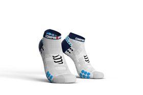 Compressport Pro Racing Socks, Run Lo V3.0 White/Blue - T4