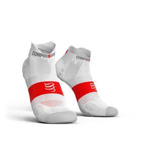 Compressport Ultralight Pro Racing Socks Run Lo V3.0 White - T2