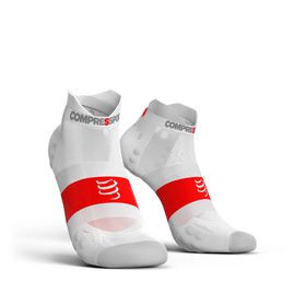 Compressport Ultralight Pro Racing Socks Run Lo V3.0 White - T3