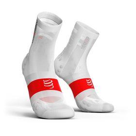 Compressport Ultralight Pro Racing Socks Bike V3.0 White - T4