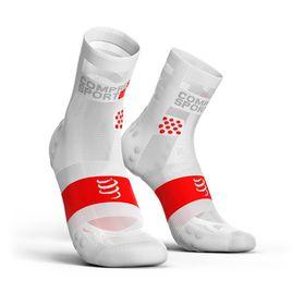 Compressport Ultralight Pro Racing Socks Run Hi V3.0 White - T4