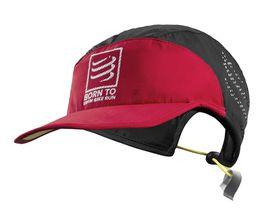 Compressport Run Cap Swim Bike Run - Black/Red