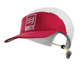 Compressport Run Cap Swim Bike Run - White/Red