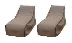 Patio Solution Covers Pool Lounger Cover Back-Up Twinpack - Brown (Small)