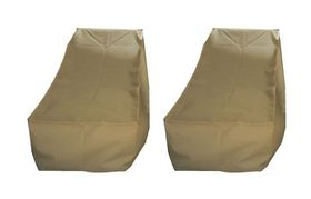 Patio Solution Covers Pool Lounger Cover Back-Up Twinpack - Beige (Small)