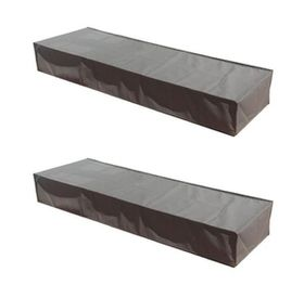Patio Solution Covers Pool Lounger Cover Flat Twinpack - Grey (Medium)