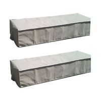 Patio Solution Flat Twin Pack Lounger Cover with Ripstop UV - Dove Grey (Small)