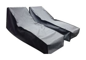 Patio Solution Back-up Twin Pack Lounger Cover with Ripstop UV - Charcoal (Medium)