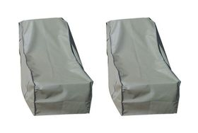 Patio Solution Back-up Twin Pack Lounger Cover with Ripstop UV - Dove Grey (Medium)