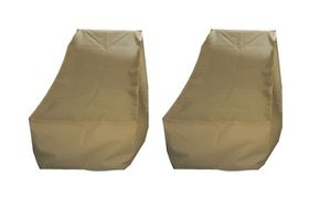 Patio Solution Back-up Twin Pack Lounger Cover with Ripstop UV - Beige (Medium)