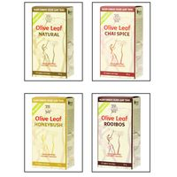 TopQualiTea Organic Olive Leaf Tea - Pack of Four Flavours, 20 Tea Bags (Pack of 4)