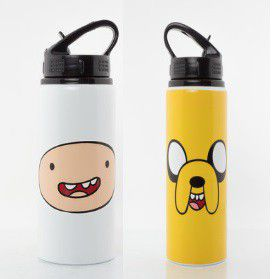 Finn And Jake - Adventure Time Aluminium Water Bottle (Parallel Import)