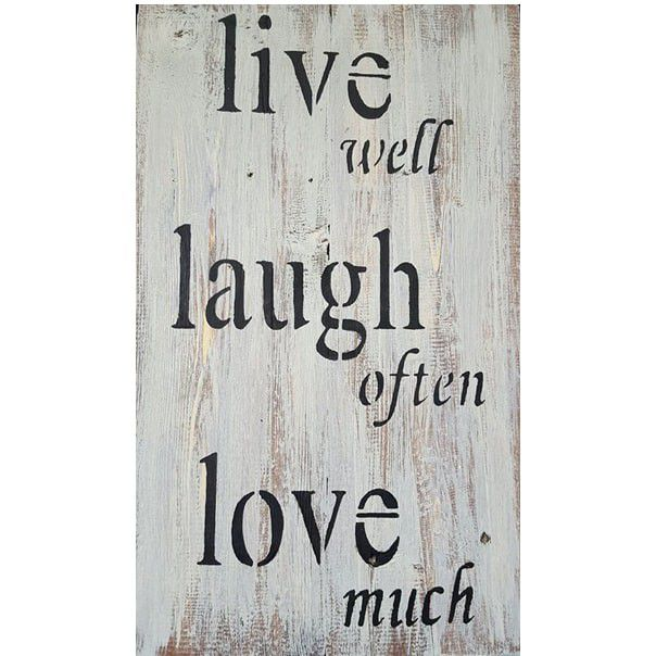 Live Laugh Love Wall Art   White Base Grey Top. Loading Zoom