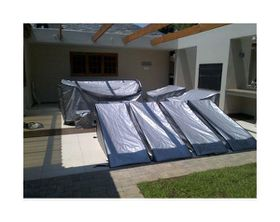 Patio Solution Covers Back-up Twinpack in Polyweave Pool Lounger Cover - Silver (Medium)