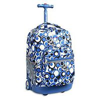 J World Chess Rolling Backpack - Blue