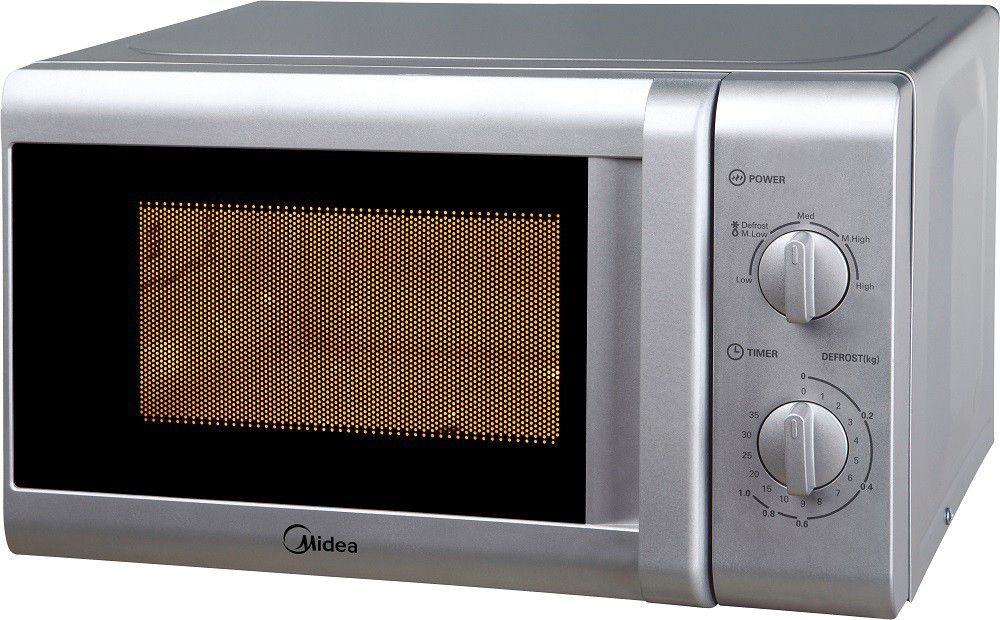 Midea 20 Litre 700w Manual Microwave Oven Silver