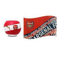 Arsenal FC Gift Pack - Ball & Flag