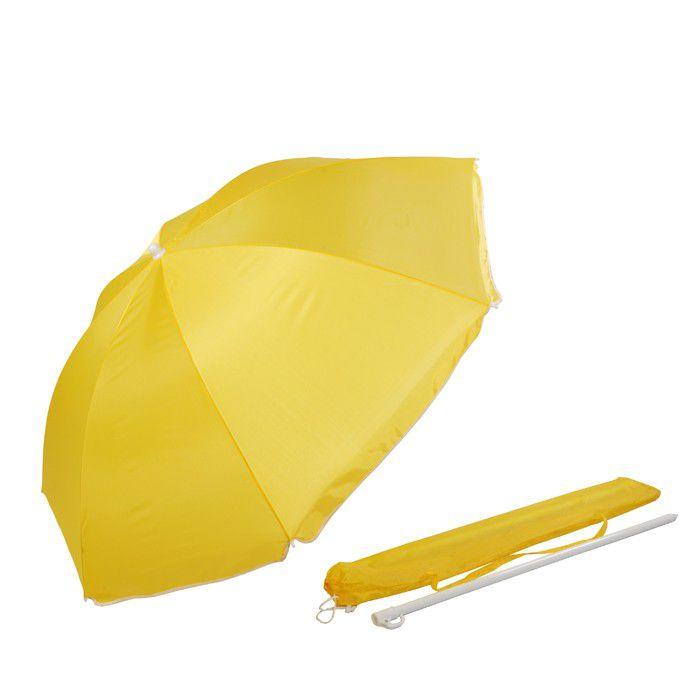 Alice Umbrellas 1 6m Beach Umbrella With Carry Bag Yellow Loading Zoom