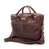 Leather Laptop Bag - Diesel Brown