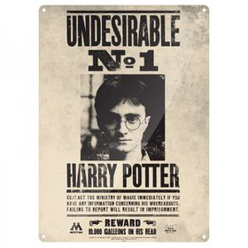 Harry Potter: Undesirable No1 Metal Wall Sign - A3 (Parallel Import)