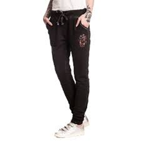 Rolling Stones: Tongue - Washed Black Girlie Sweat Pants (Parallel Import)