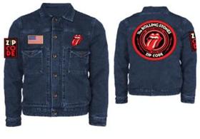 Rolling Stones: Zip Code 2015 Denim Jacket (Parallel Import)