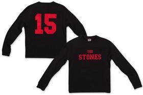 Rolling Stones: Stones 15 Black Crew Neck Sweatshirt (Parallel Import)