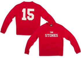 Rolling Stones: Stones 15 Red Crew Neck Sweatshirt (Parallel Import)