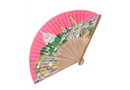 Pink Paris Folding Fan