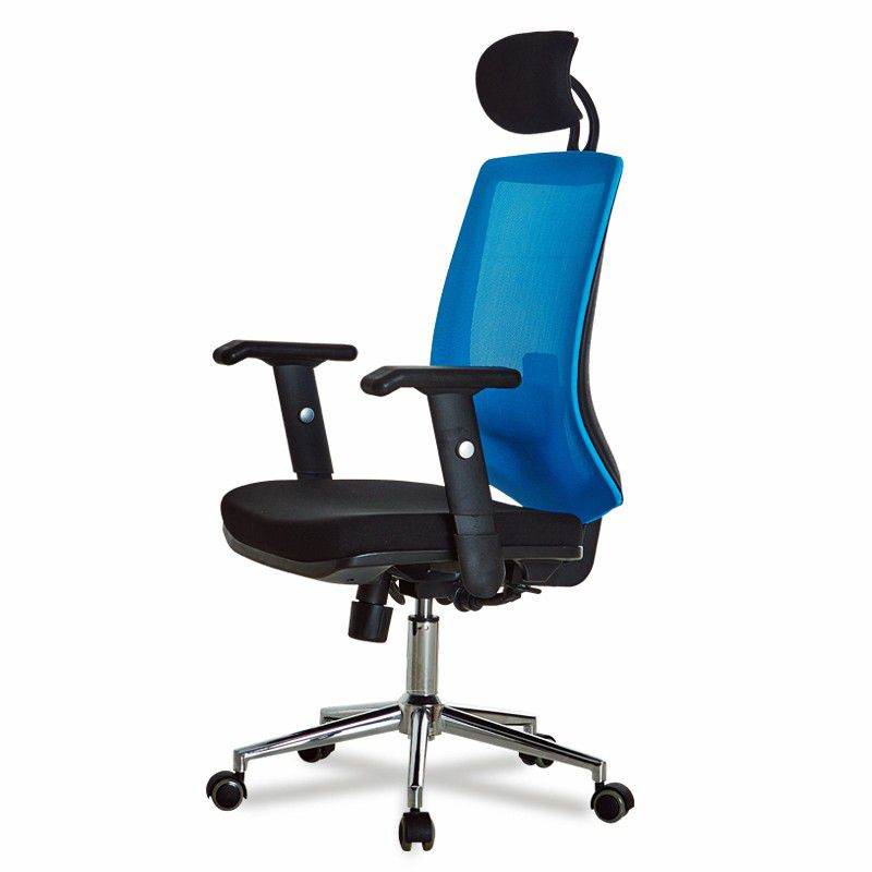 infinity homeware manhattan ergonomic office chair black blue