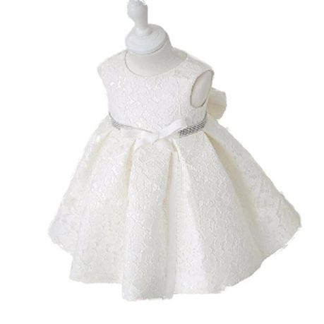 Snow White Vintage Sparkle Belt Flowergirl Dress - White   Buy Online in South Africa   takealot.com