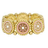 Gold Tone Vintage Stretchy Bracelet