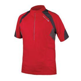 Endura Hummvee II Short Sleeve Jersey - Red