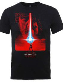 Star Wars: The Last Jedi Poster - Black T-Shirt (Parallel Import)