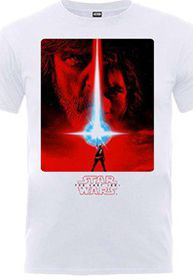 Star Wars: The Last Jedi Poster - White T-Shirt (Parallel Import)