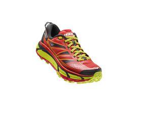 HOKA ONE ONE Mens Mafate Speed 2 Trail Running Shoe - True Red & Citrus