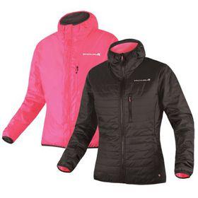 Endura Ladies FlipJak Reversible Jacket - Black & Pink