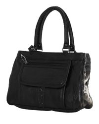 Fino Las Black Leather Handbag