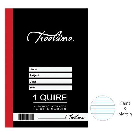 1 Quire A4 96 pg Hard Cover Book - Feint & Margin