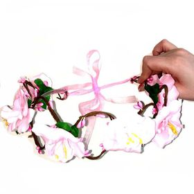 Glamore Cosmetics Spring Flower Crown - White & Pink