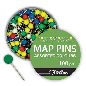 treeline multi coloured map pins pvc 100 s buy online in south