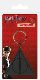 Harry Potter: Deathly Hallows Logo Rubber Keyring (Parallel Import)