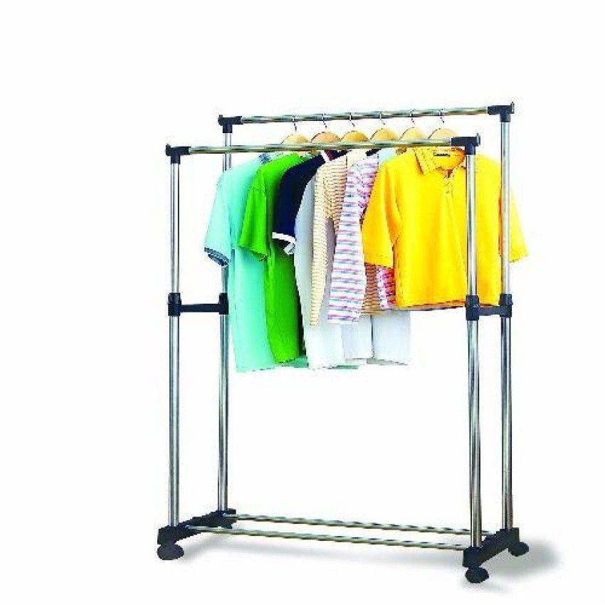 clothing rail double pole buy online in south africa. Black Bedroom Furniture Sets. Home Design Ideas