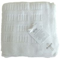Christening Heirloom Receiving Baby Blanket