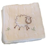 Romy & Rosie Snuggle Me Fluffy Sheep Stroller Blanket - Cream