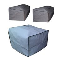 Patio Solution Covers - Couch Covers Combo no.8 Twinpack & Armchair in Ripstop UV - Dove Grey