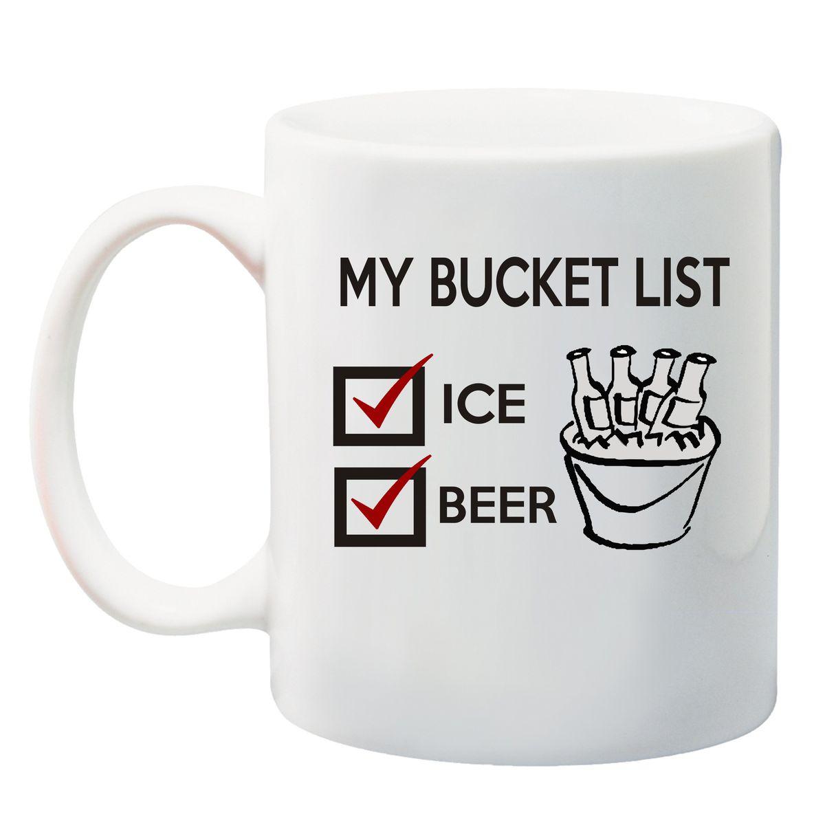 qtees africa my bucket list printed mug white buy online in