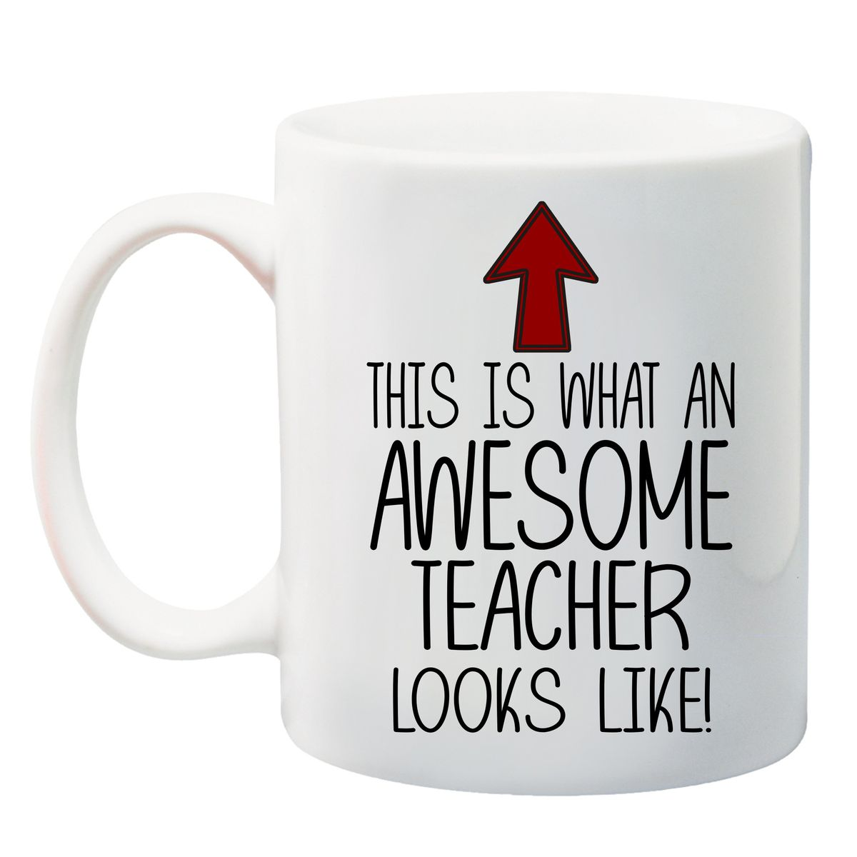 qtees africa this is what an awesome teacher looks like printed mug