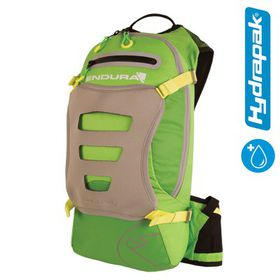 Endura Men's Single Track Backpack with Hydrapak - Green (Size: One Size)