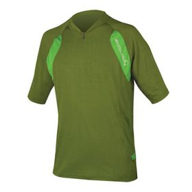 Endura Men's Single Track Lite S/S Jersey - Green
